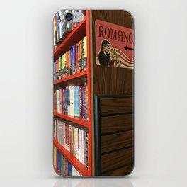Romance aisle in a book shop iPhone Skin
