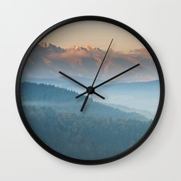 The mountains are calling #sunset Wall Clock