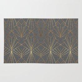 Art Deco in Gold & Grey Rug