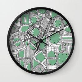 RAZZ BW LEAF Wall Clock