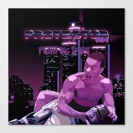 Van Damme vs. Robocop fighting spirit Canvas Print