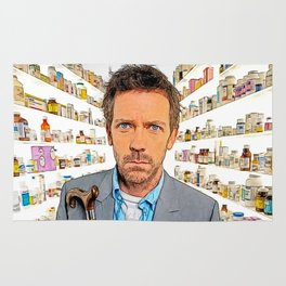 House MD - Colored Pencil Sketch Style Rug