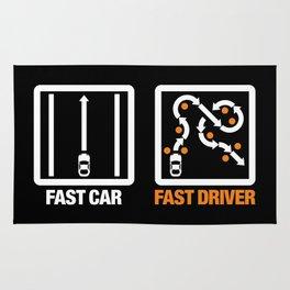 Fast Car - Fast Driver v3 HQvector Rug