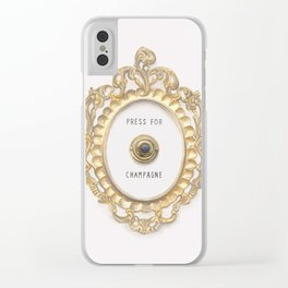Press For Champagne Clear iPhone Case