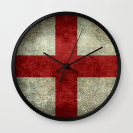 Flag of England (St. George's Cross) Vintage retro style Wall Clock