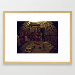 for the record... Framed Art Print
