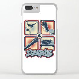 Four Elements of Hip Hop Clear iPhone Case