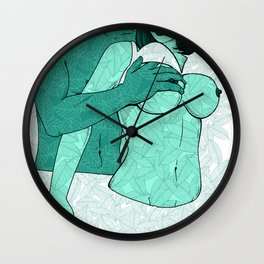 foreplay and leaves Wall Clock