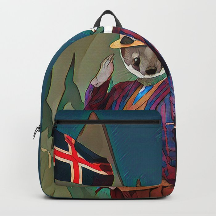 Ermine in the Iceland Backpack
