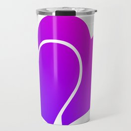 Pink and Purple Gradient Double Hearts Travel Mug