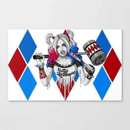 Harley Quinn Armed Canvas Print