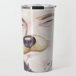 Mark Sheppard, watercolor painting Travel Mug