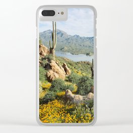 Arizona Blooms Clear iPhone Case