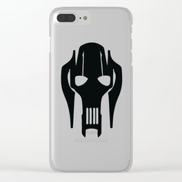 General Grievous Face Silhouette Clear iPhone Case
