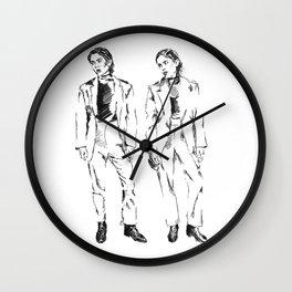 TEGAN AND SARA DOODLE Wall Clock