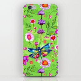 Tropical Dragonfly Garden iPhone Skin