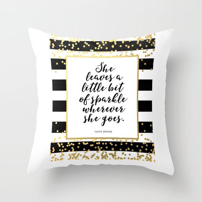 enchanting spade dot pillow york pillows of kate new gold yorkville embroidered