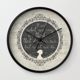Sense And Sensibility - It's What You Do Wall Clock