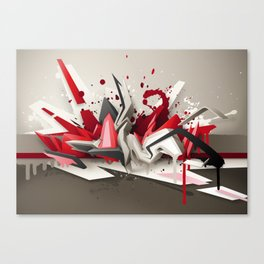 Red Metal Canvas Print