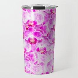 Pink Pattern Orchids Galore Travel Mug