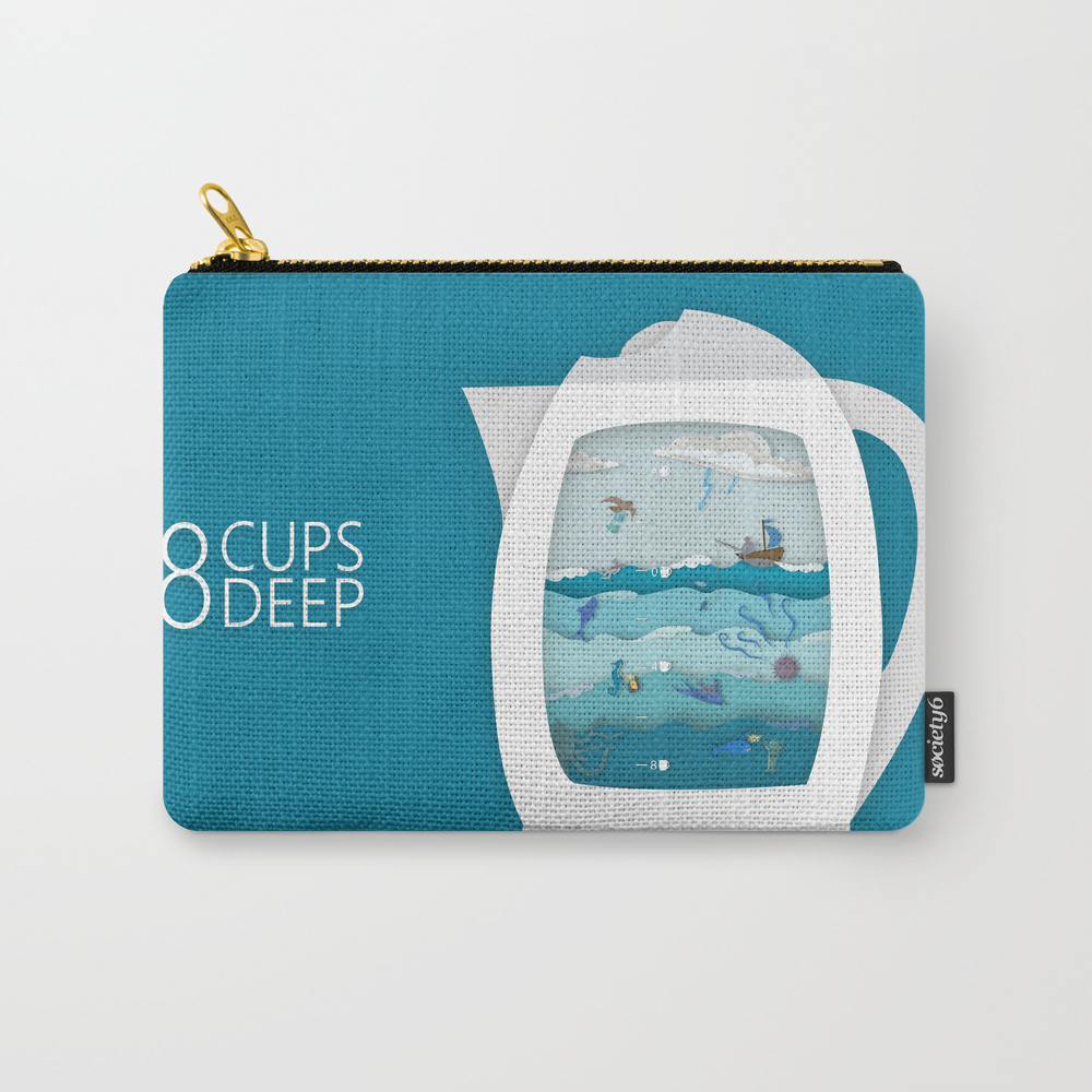 8 Cups Deep Carry-all Pouch by Ketizoloto CAP868795