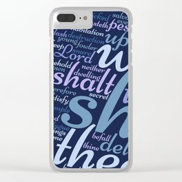 Christian Psalm 91 Word Art Clear iPhone Case