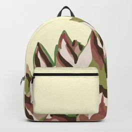 Sunshine Rosette - Yellow Wax Agave Succulent Backpack