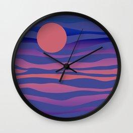 WOW Sunset #society6 #buyart #decor Wall Clock
