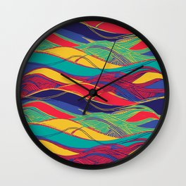 Color Wave Wall Clock
