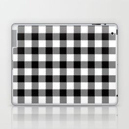 90's Buffalo Check Plaid in Black and White Laptop & iPad Skin