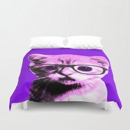 Pop Art Kitten with glasses #5 Duvet Cover