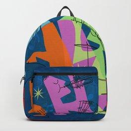 Mid-Century Modern Jazz Band Backpack