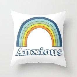 Anxiety Rainbow Throw Pillow