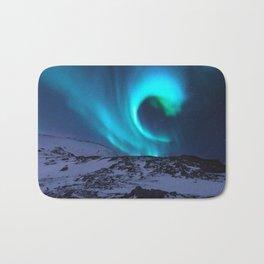 Aurora BorealiS Mountains Bath Mat