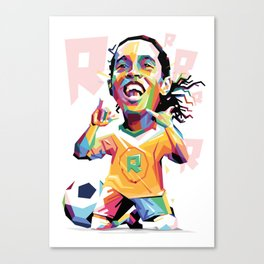 Ronaldinho Carricature WPAP Canvas Print