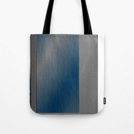 Escultura Cubo virtual azul y negro con progresión amarilla -Detail- Tote Bag