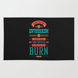 Lab No. 4 Catch On Fire John Wesley Inspirational Quotes Rug