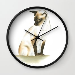 seal point siamese cat 1 Wall Clock