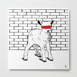 Brave Little Lamb Metal Print