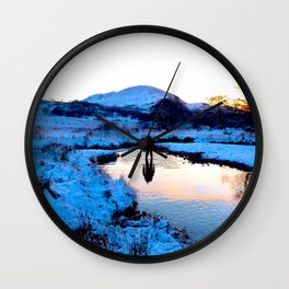 Snowy puddles Wall Clock