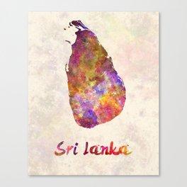 Sri Lanka in watercolor Canvas Print