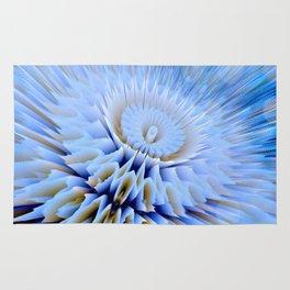 Blue 3D essence of a mandala Rug