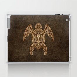 Intricate Vintage and Cracked Sea Turtle Laptop & iPad Skin