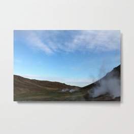 Iceland steam vents Metal Print