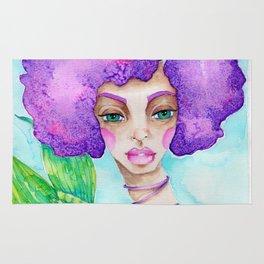JennyMannoArt Watercolor Illustration/Mermaid Jenny Manno Rug