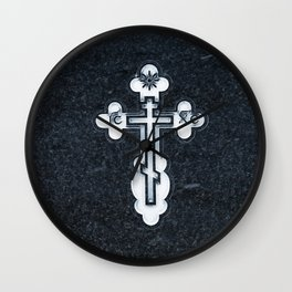 Russian Greek Orthodox Cross Wall Clock