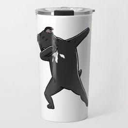 Funny Dabbing Staffordshire Bull Terrier Dog Dab Dance Travel Mug