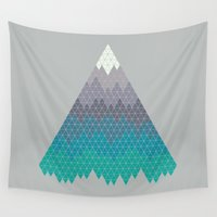 geology Wall Tapestries featuring Many Mountains by Rick Crane