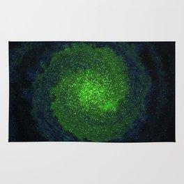 green galaxy Rug