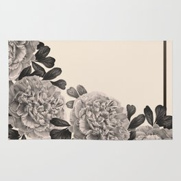 Flowers on a winter day Rug